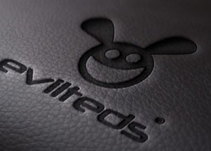 EvilTeds embossed on leather