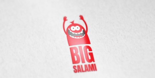 Big Salami logo on paper